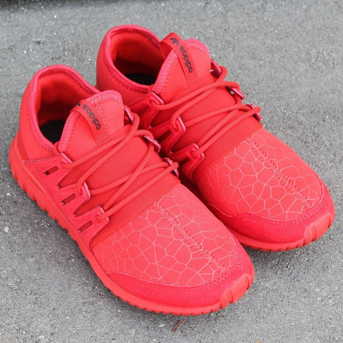hot sale online 5eee2 86492 all red adidas tubular radial
