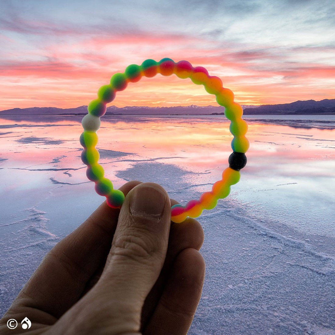 Lokai Neon Bracelet Limited Edition Make A Wish Foundation Multi Pink