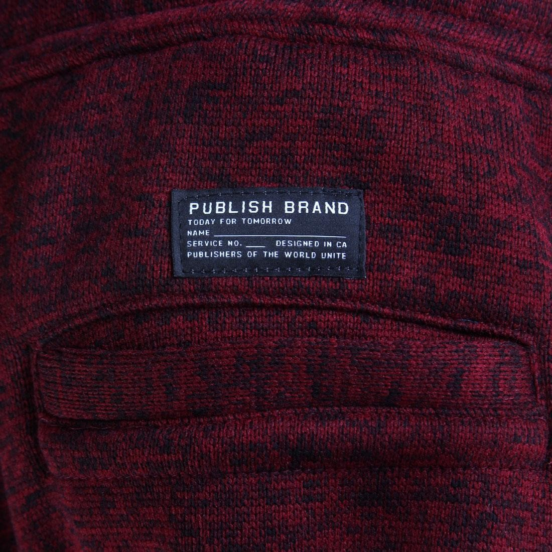 burgundy // maroon Publish Noel Heathered Jogger Pants