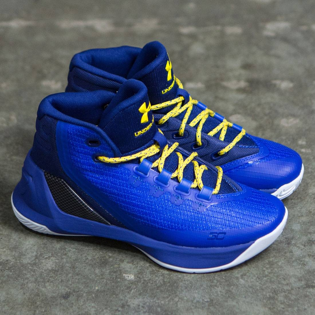2ec3594657c5 ... Under Armour Big Kids Curry 3 - Dub Nation Heritage (blue yellow) ...