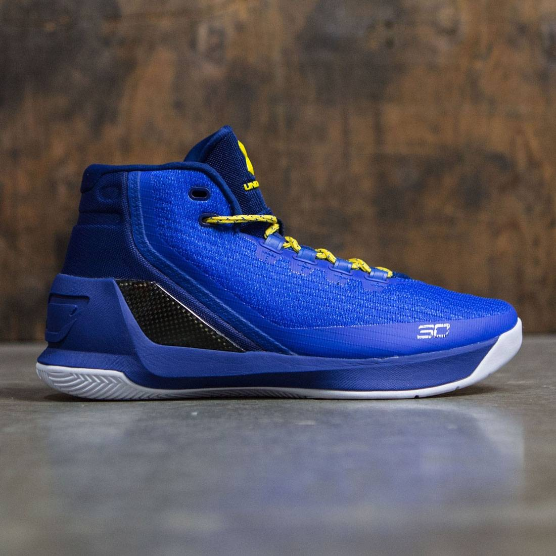 curry 3 white blue yellow