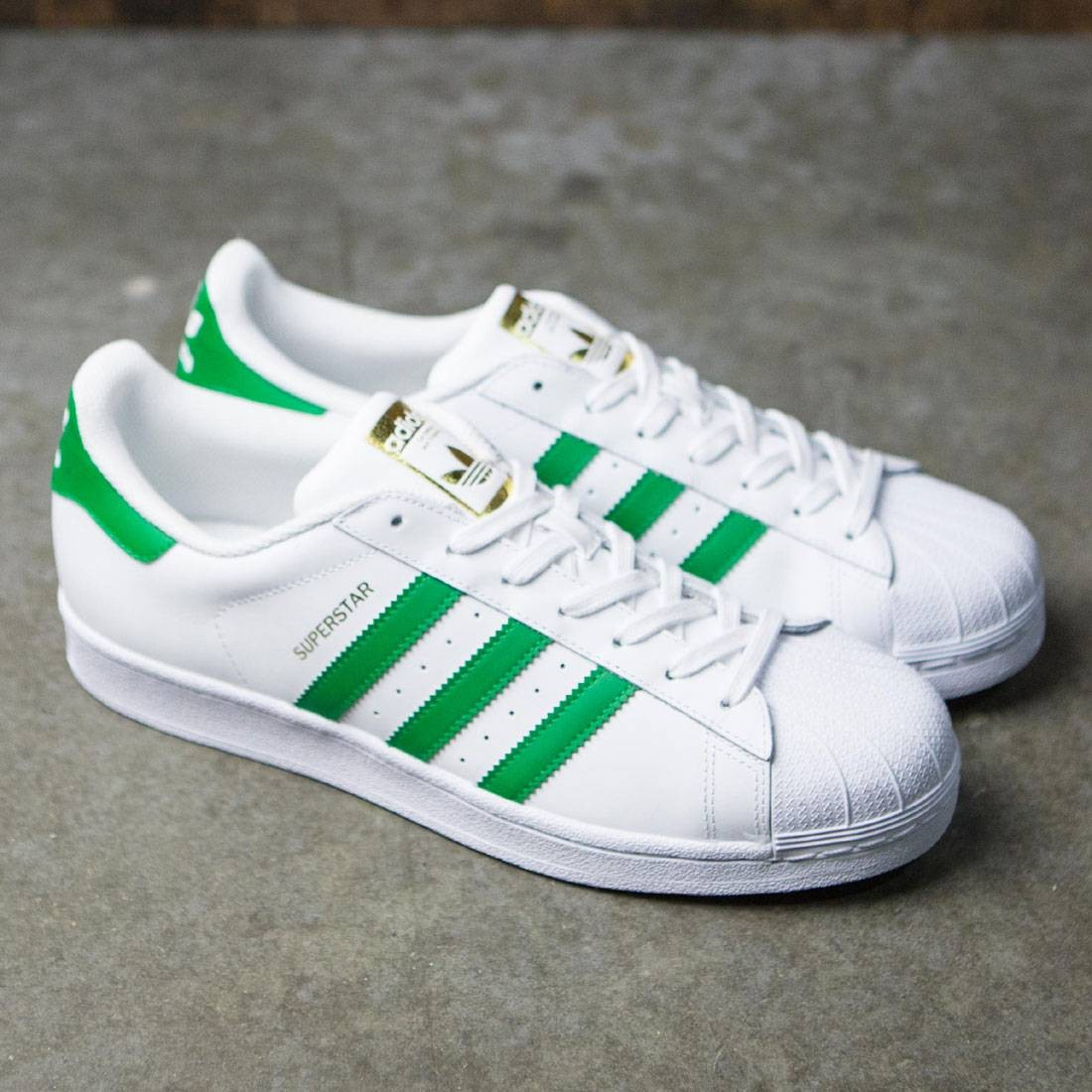 huge selection of a3cc5 5f746 ... ireland adidas men superstar foundation white green gold metallic dd002  f58d7
