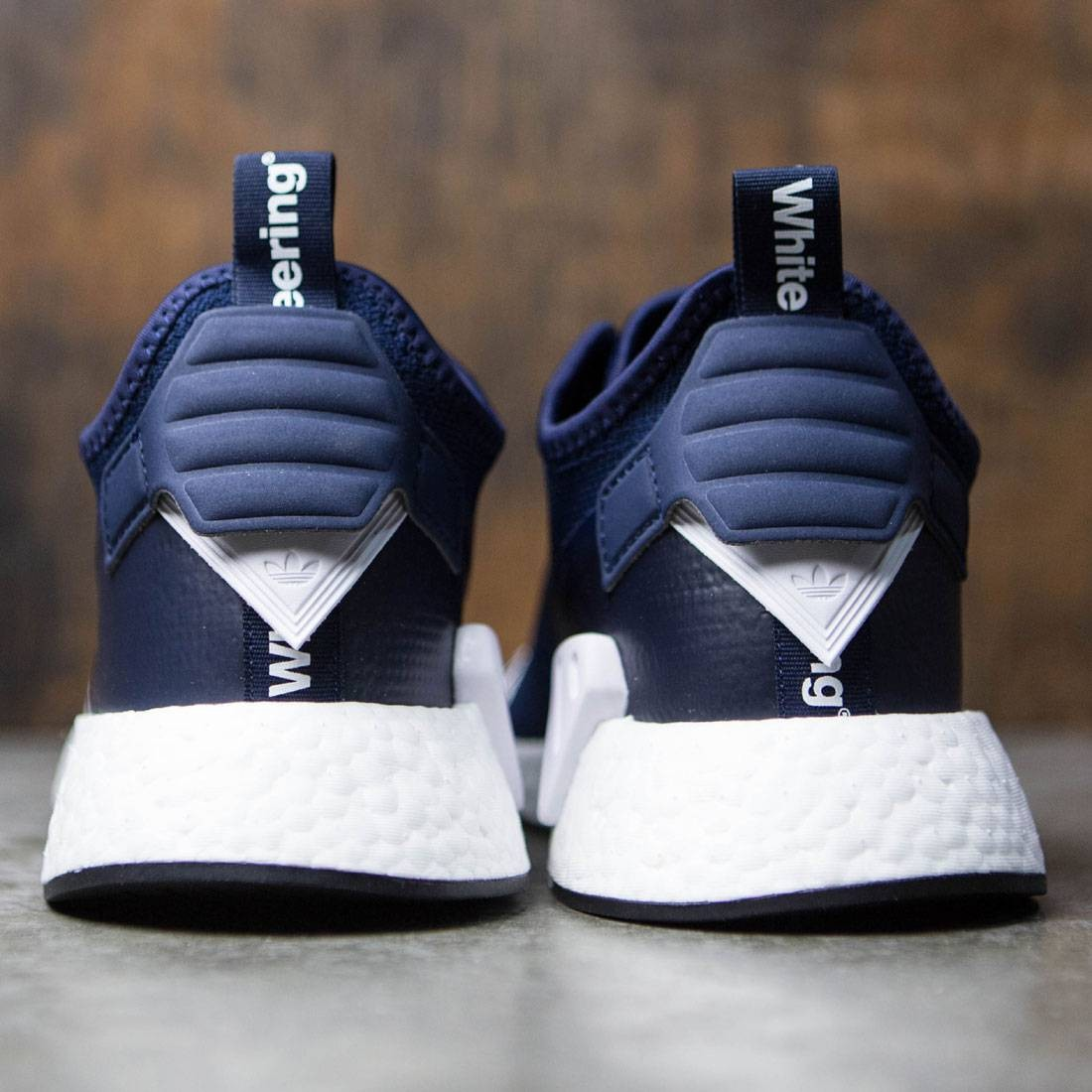 35d3c2a9ab48a Adidas Men White Mountaineering NMD R2 Primeknit (navy   collegiate navy    footwear white)