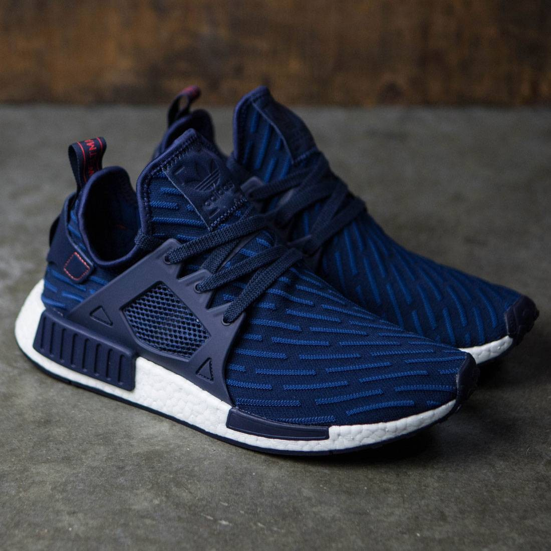 Adidas Men NMD XR1 Primeknit (navy   collegiate navy   core red) 1f154f993148