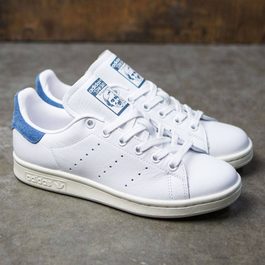 stan smith white and blue