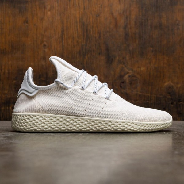 254374fbfed64 Adidas x Pharrell Williams Men Hu Holi Tennis Hu BC white cream white  footwear white