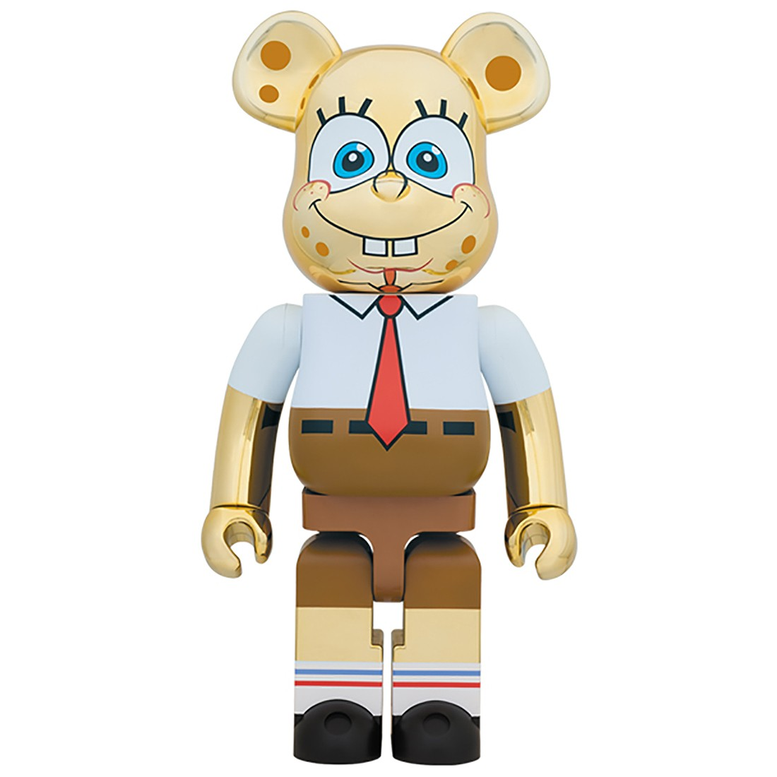 PREORDER - Medicom SpongeBob SquarePants Gold Chrome 1000% Bearbrick Figure (gold)