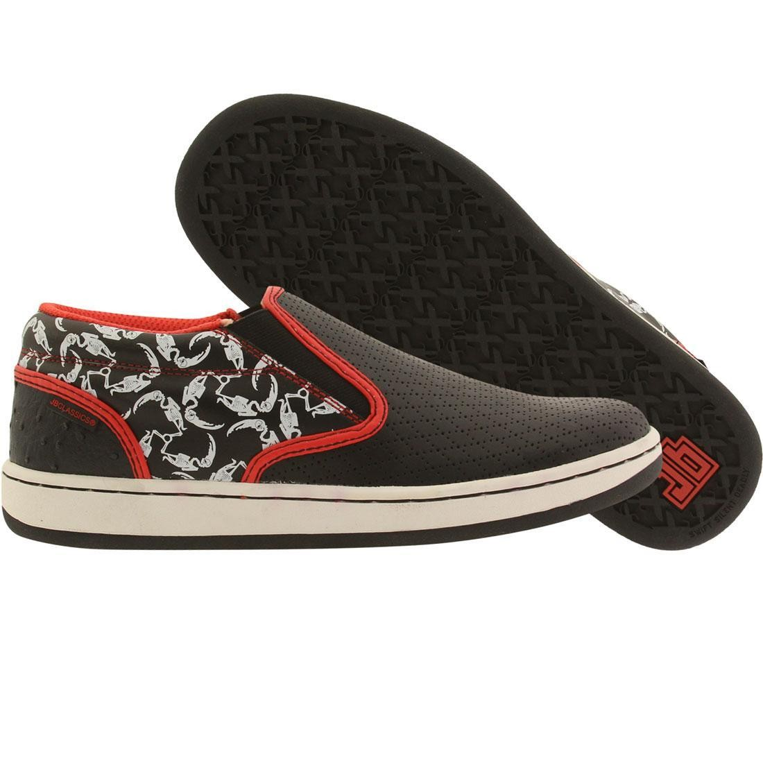JB Classics Malta Slip Crescent - Bones (black / red / white)