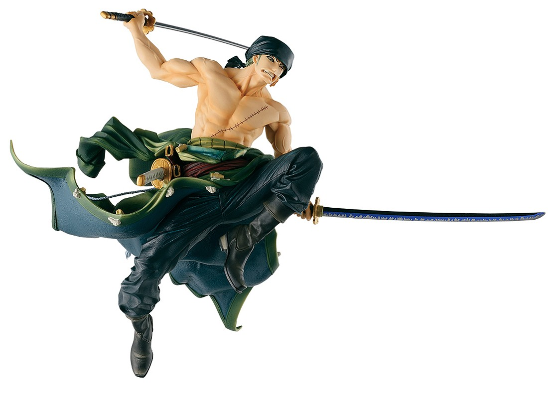 PREORDER - Banpresto One Piece Banpresto World Figure Colosseum Vol. 1 Roronoa Zoro Figure Re-Run (green)