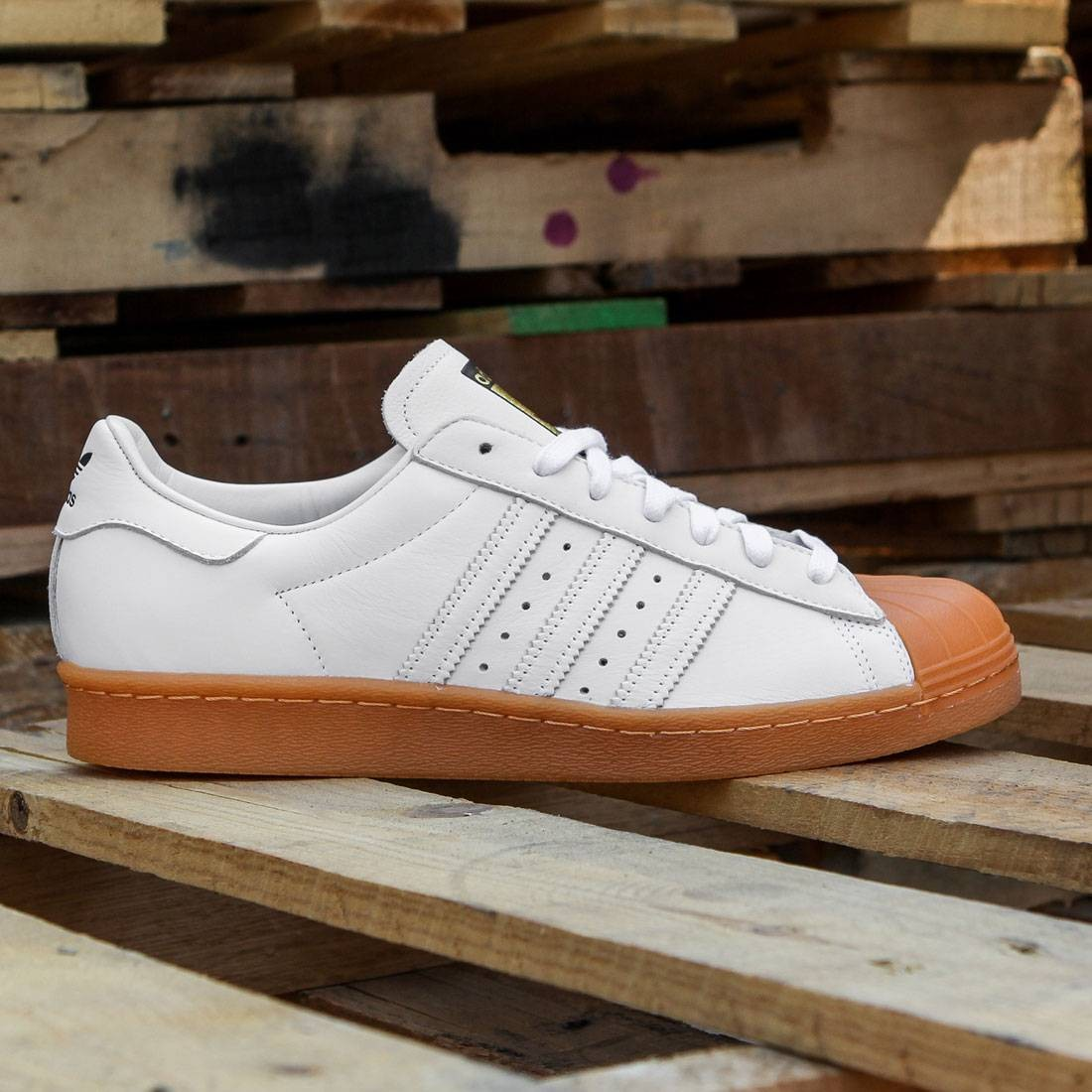 Adidas Men Superstar 80s DLX (white / footwear white / gold metallic)