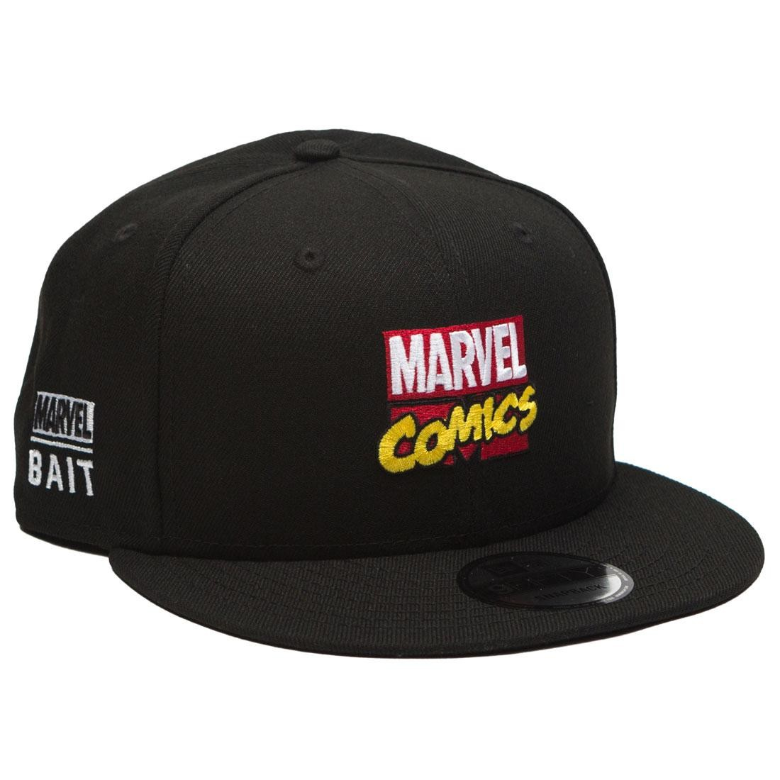 BAIT x Marvel x New Era 9Fifty Marvel Comics Black Snapback Cap (black)