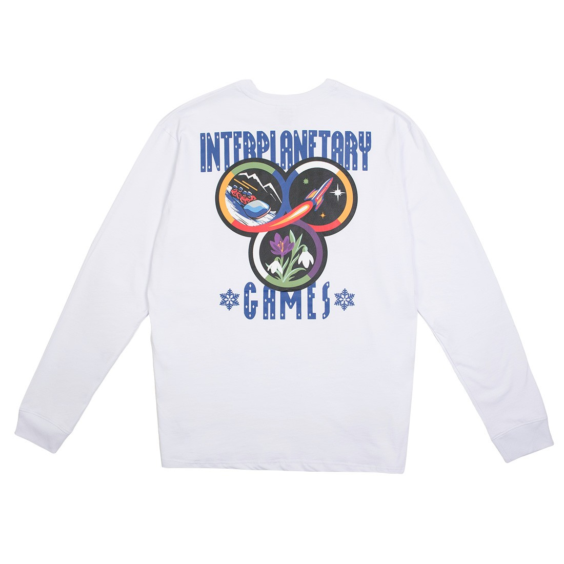 Billionaire Boys Club Men Interplanetary Long Sleeve Tee (white)