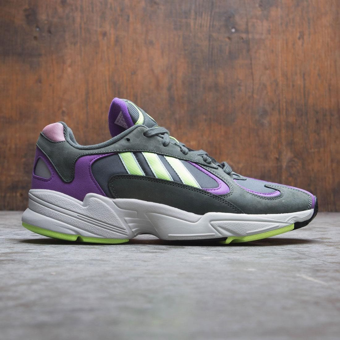 Adidas Men Yung-1 (green / legend ivy / hi-res yellow / active purple)