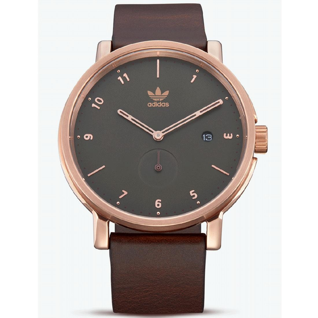Adidas District_LX2 Z12-3038-00 Watch (gold / rose gold / mid olive / dark brown)