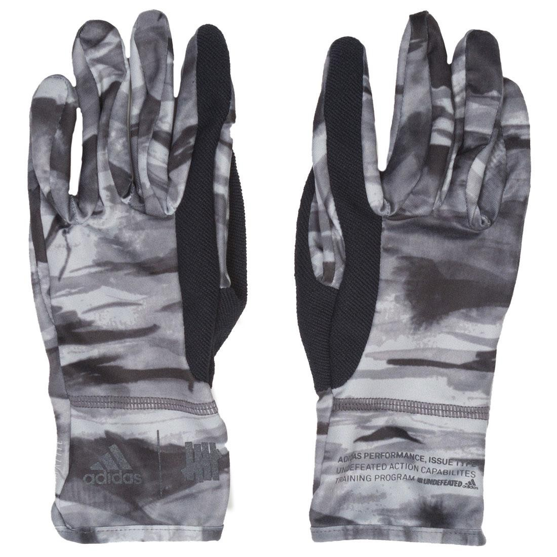 Adidas x Undefeated Running Gloves (black / reflective utility black / shift gray)