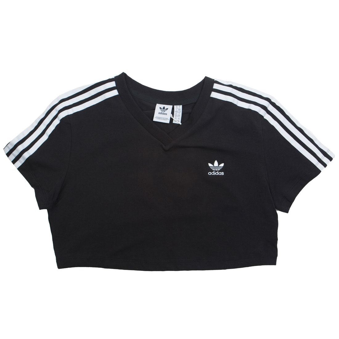 Adidas Women V-Neck Cropped Tee (black)