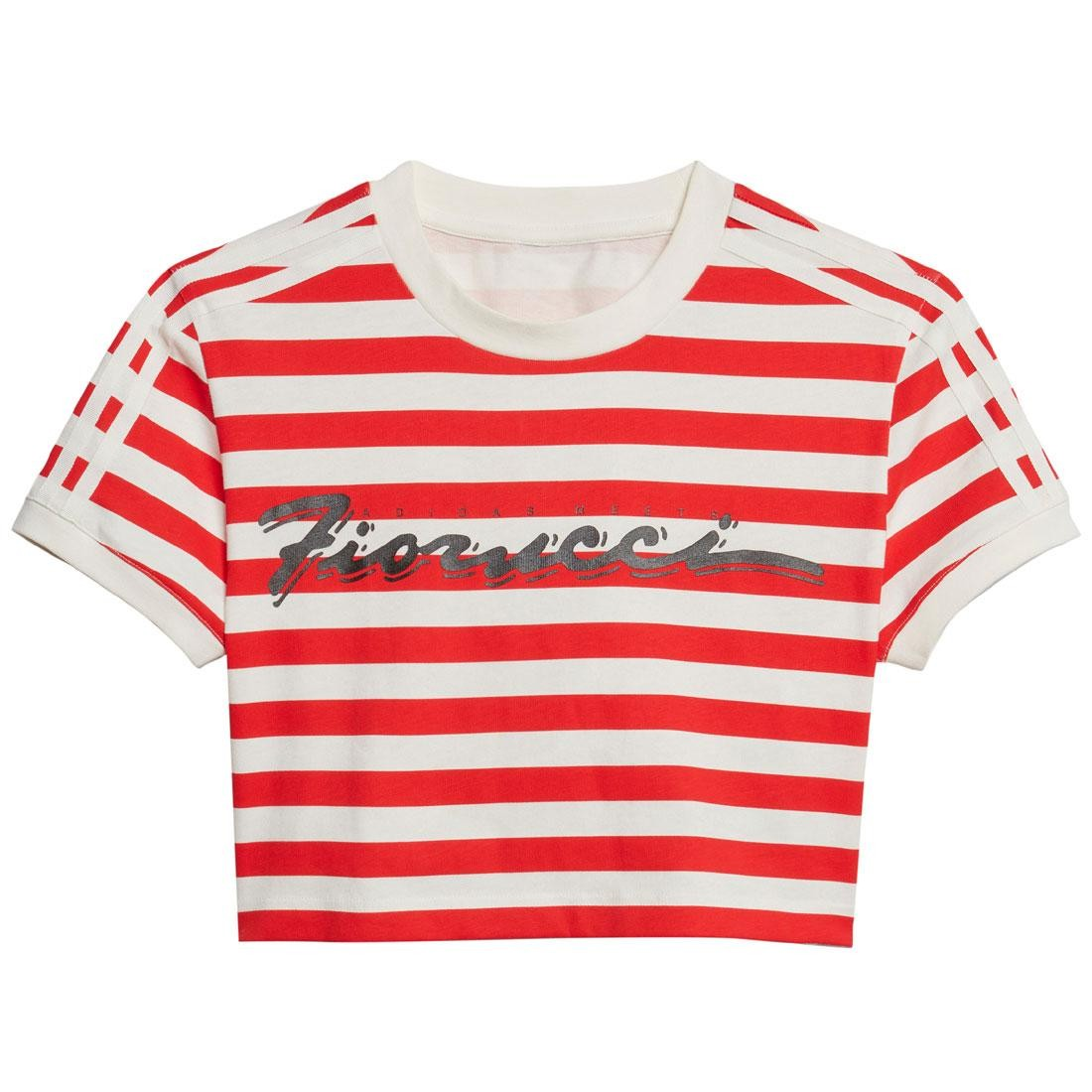 Adidas x Fiorucci Women Stripe Crop Tee (white / off white)