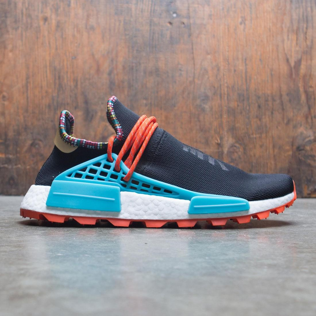 Adidas x Pharrell Williams Men Solar HU NMD (black / clear blue / collegiate orange)