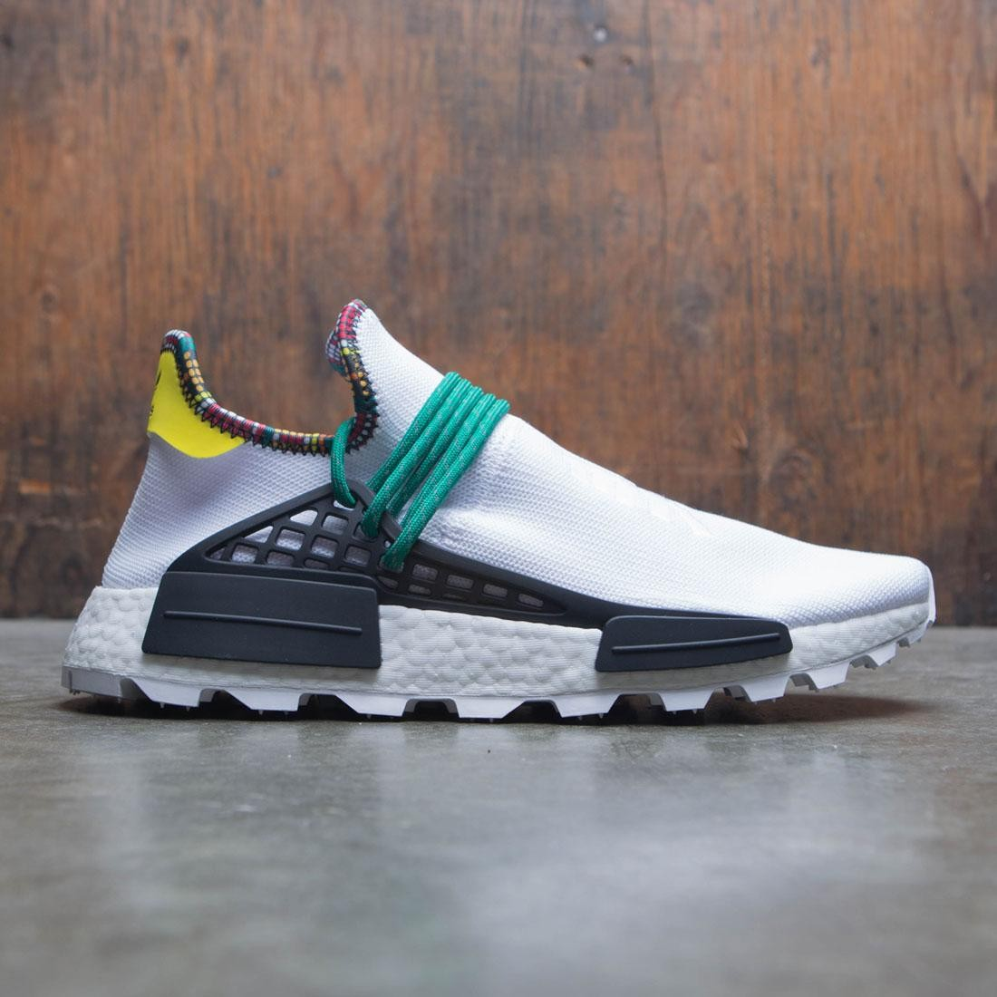 Adidas x Pharrell Williams Men Solar HU NMD (white / cloud white / bold green / bright yellow)