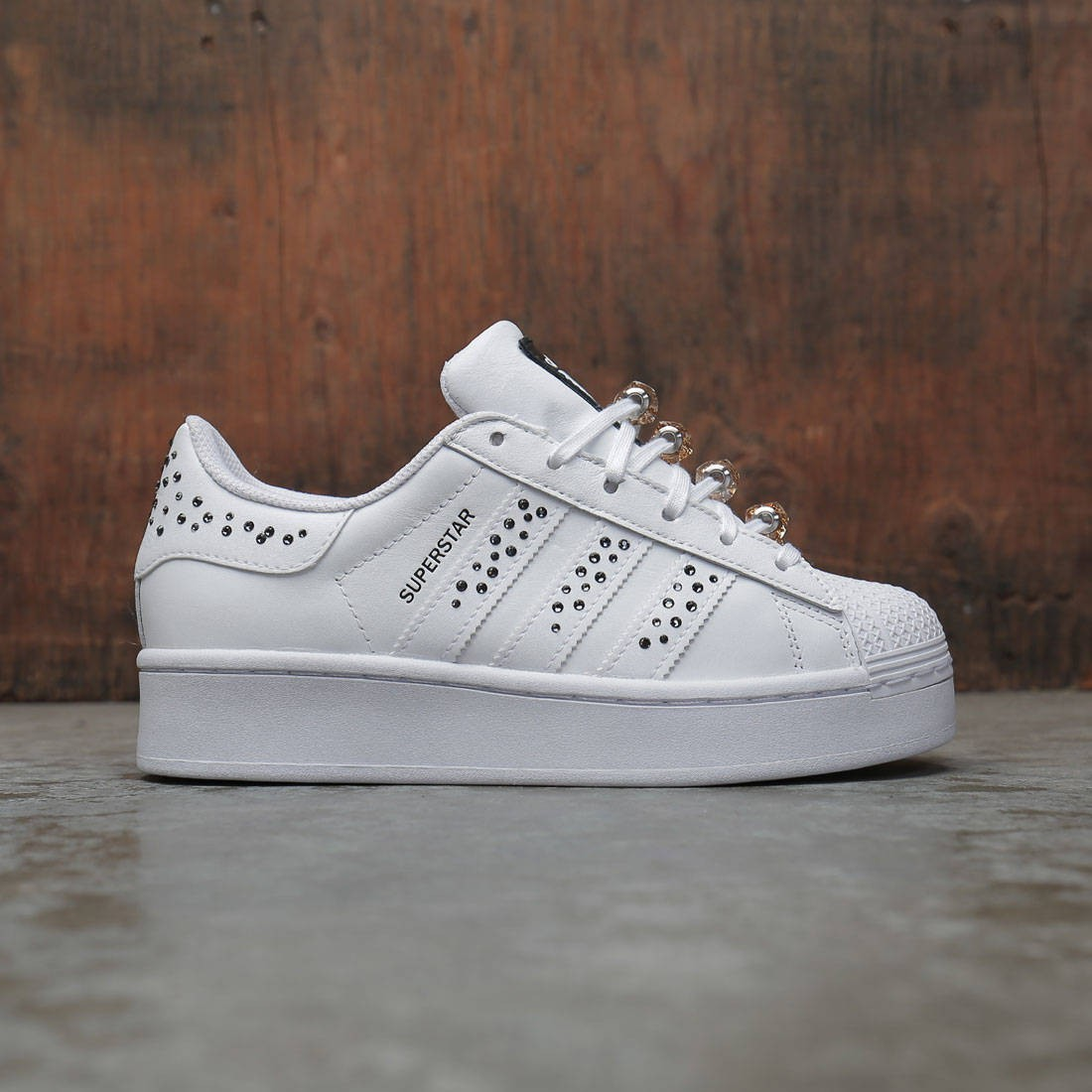 Adidas Women Swarovski Superstar Bold (white / core black / silver metallic)