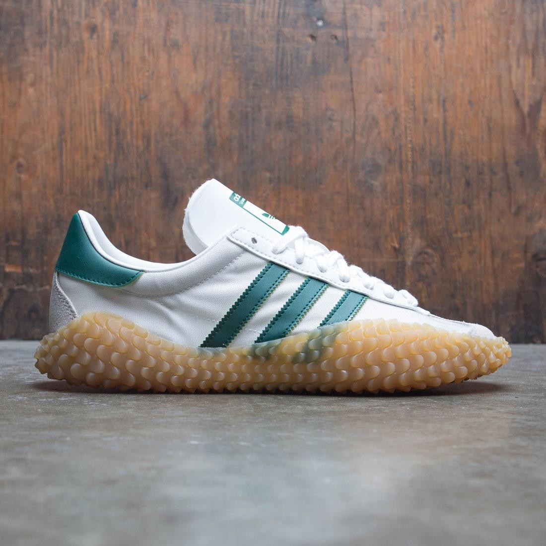 Adidas Men Country x Kamanda  (white / cloud white / collegiate green / gum)