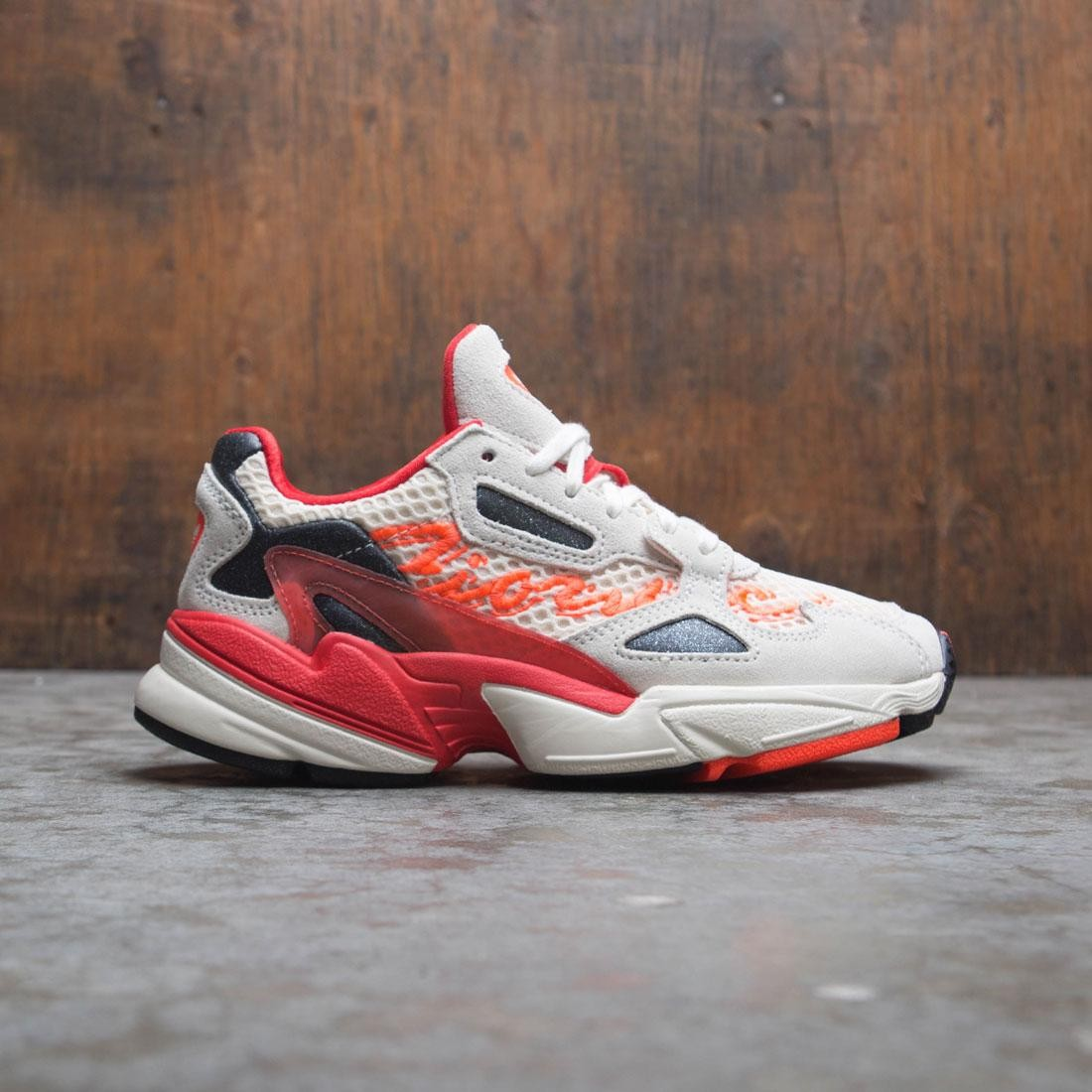 Adidas x Fiorucci Women Falcon (white / off white / neon solar orange / black)