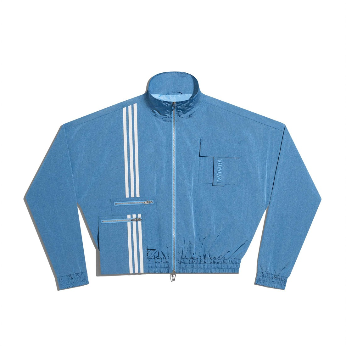 Adidas x Ivy Park Men Nylon Track Jacket (blue / light blue)