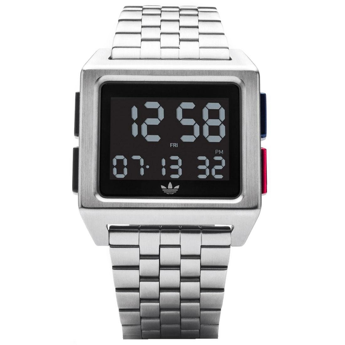 Adidas Archive M1 Watch (silver / black / blue / red)