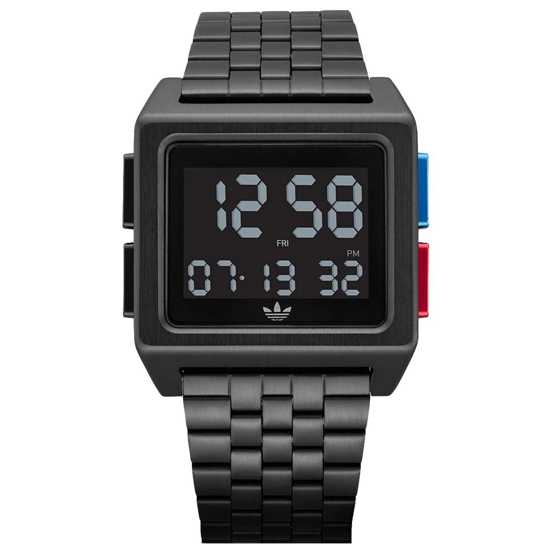 Adidas Archive M1 Watch (black / all black / blue / red)