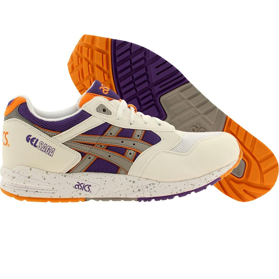 asics tiger men gel-saga (white / light gray)