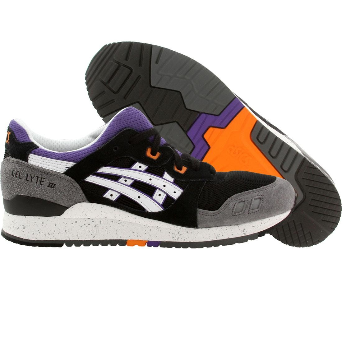 asics tiger men gel-lyte iii (black / white)