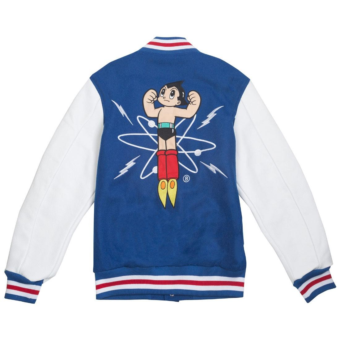 BAIT x Astro Boy Men Launch Varsity Jacket (blue / white)
