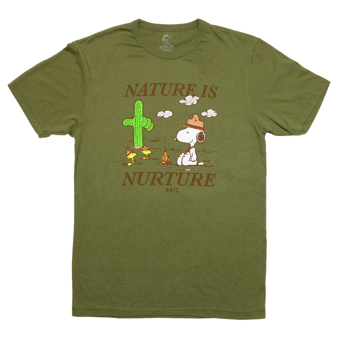 BAIT x Snoopy x Upcycle Men Nature Is Nurture Tee (green / moss)
