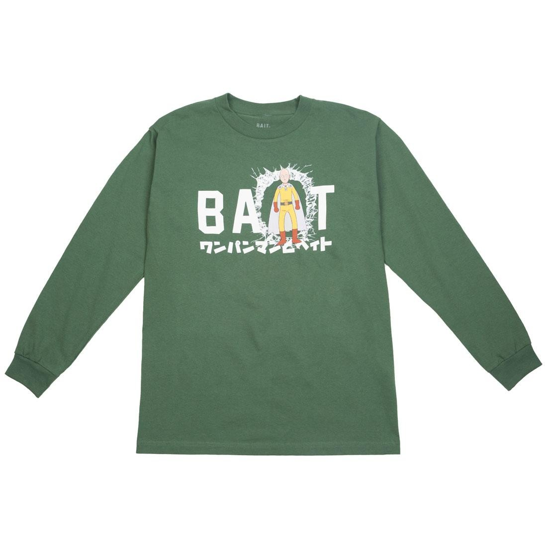 BAIT x One Punch Man Men Classic BAIT Logo Long Sleeve Tee (green / forest)