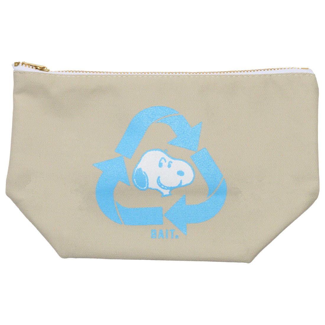 BAIT x Snoopy Recycle Large Zip Bag (gray / stone)