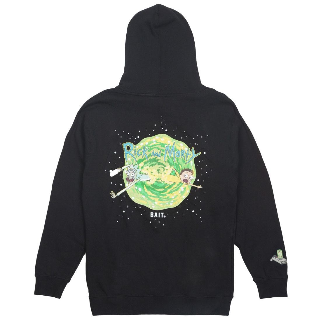 BAIT x Rick and Morty Men Portal Glow In The Dark Hoody (black)