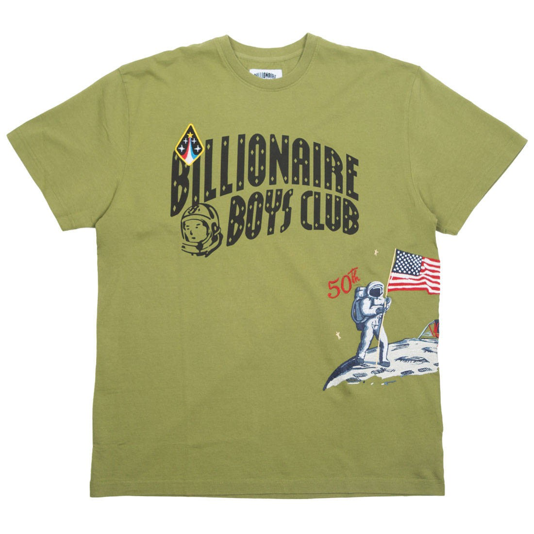 Billionaire Boys Club Men Moonwalk Knit Tee (green)