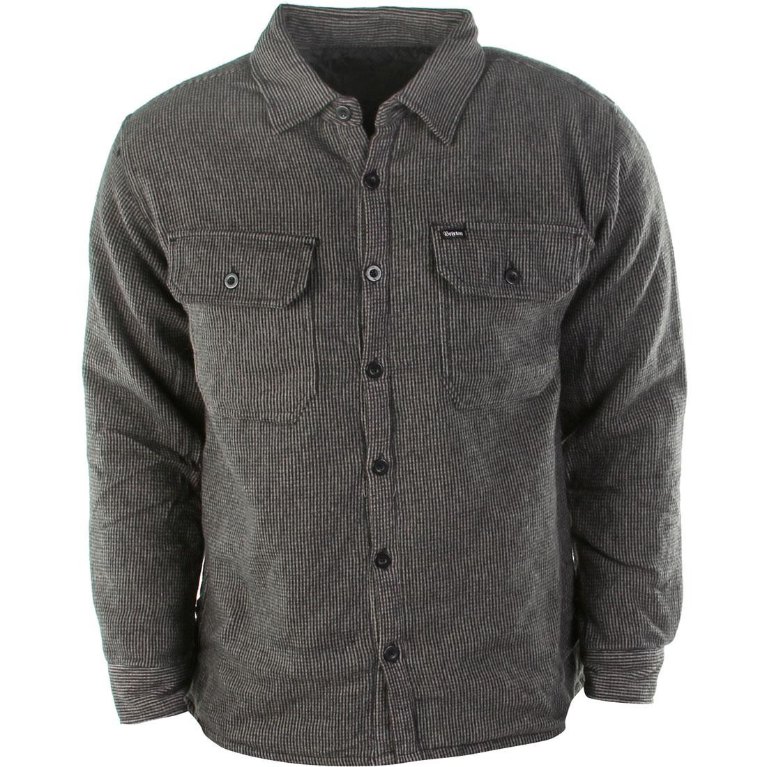 Brixton Lincoln Flannel Long Sleeve Shirt (black / charcoal)