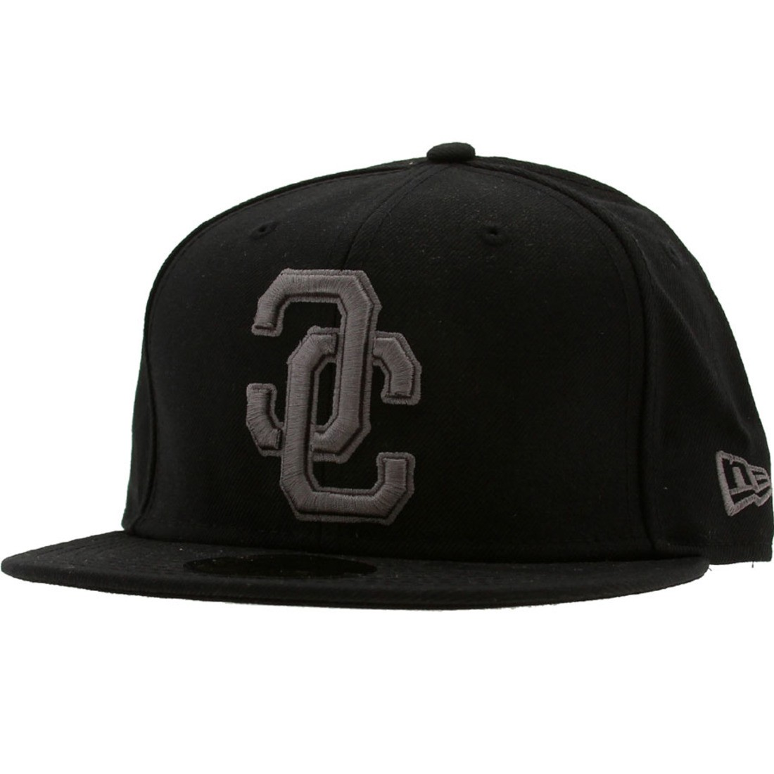 Crooks and Castles Link Logo New Era Fitted Cap (black)