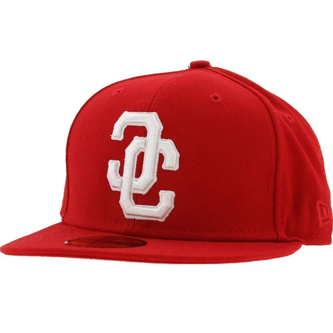 Crooks and Castles Link Logo New Era Fitted Cap (red)