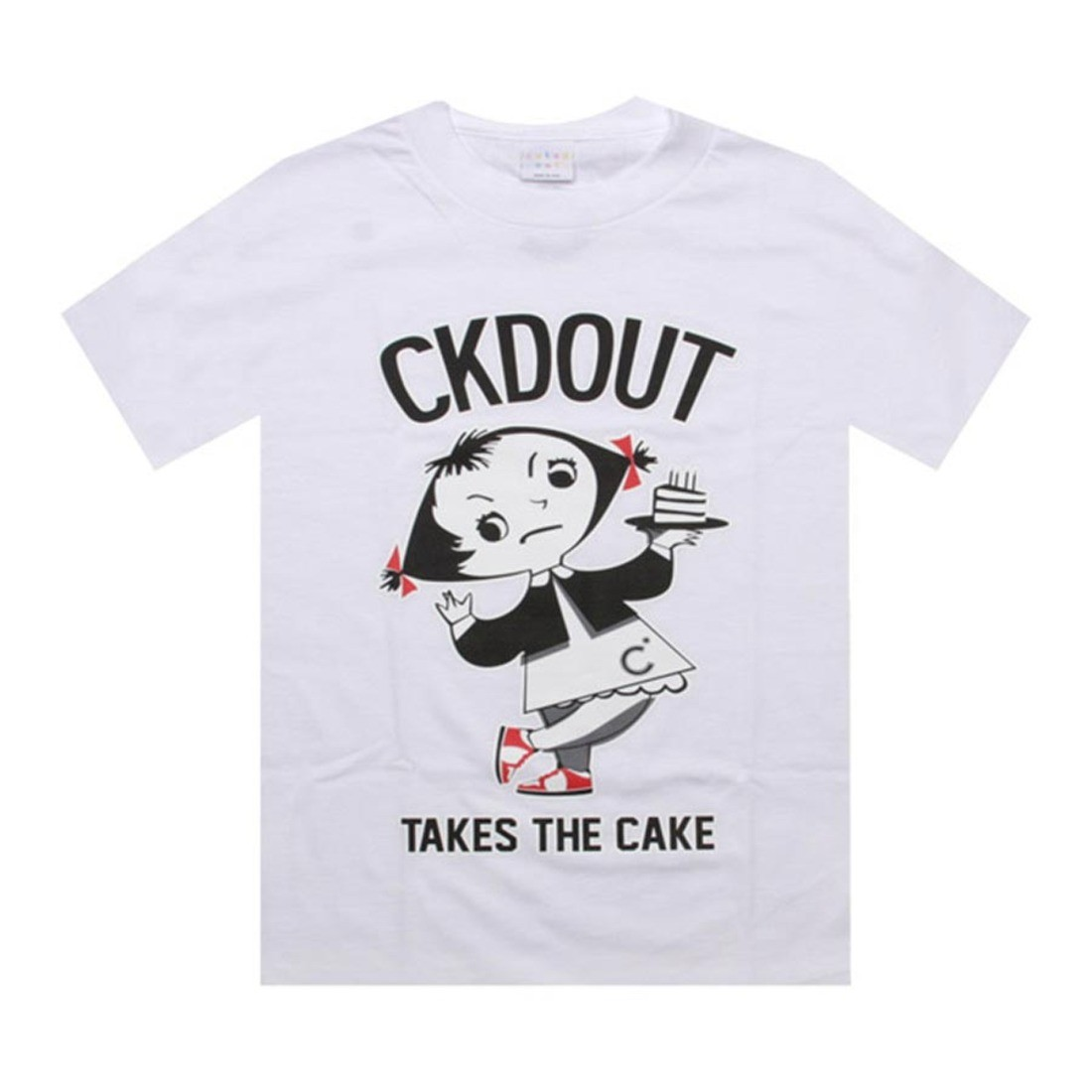 Caked Out Takes The Cake Tee (white)