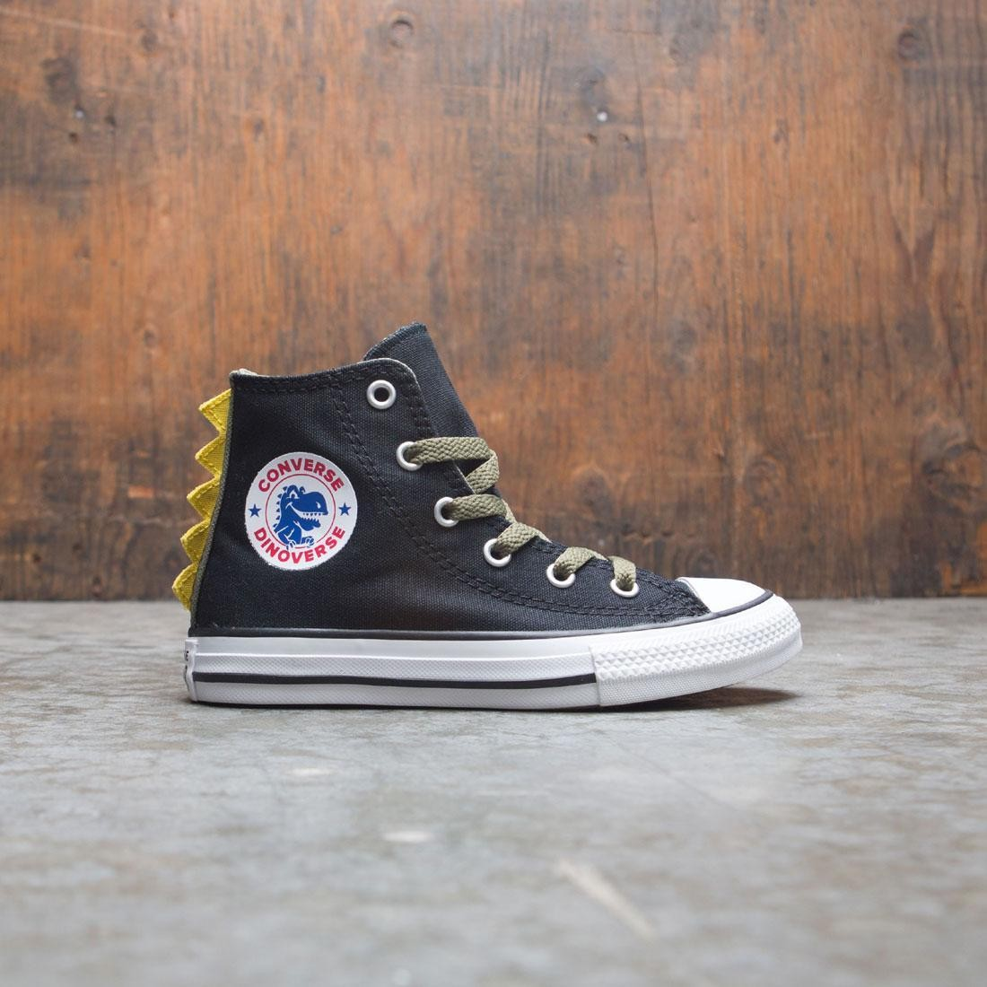 2e540664c0 Converse Little Kids Chuck Taylor All Star Dino Spikes Hi (black / field  surplus / white)