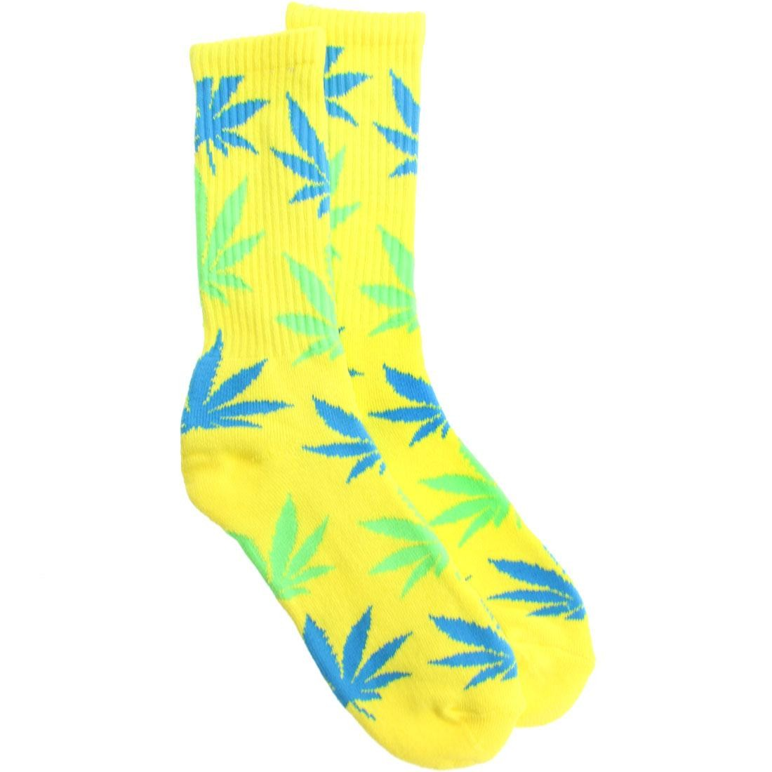 HUF Neon Plantlife Crew Socks (yellow) 1S