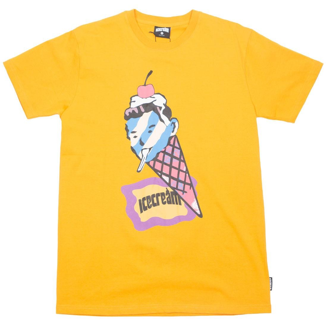 Ice Cream Men Conehead Tee (yellow / cadmium)