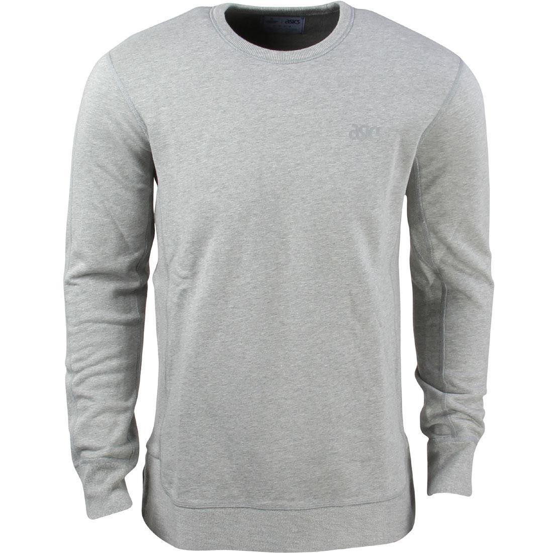 asics tiger x reigning champ men crewneck (grey / heather grey)
