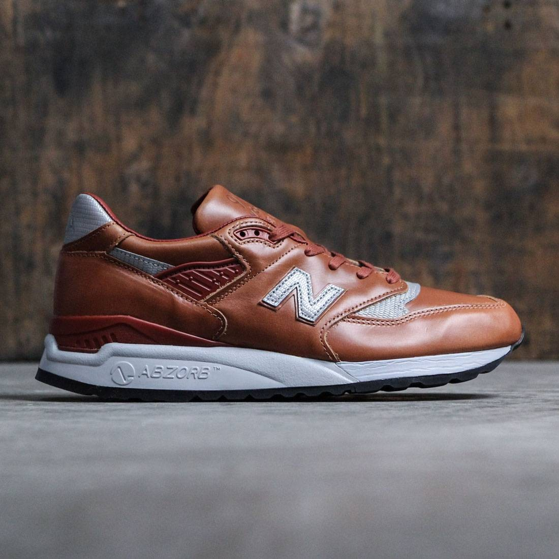 best service 25bb5 e1187 New Balance Men 998 Age of Exploration M998BESP - Made In USA (brown /  silver)
