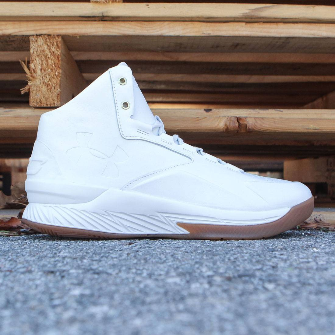 new style f65a1 1cb7b Under Armour x Steph Curry Men Curry 1 Mid Alpha Leather - Curry Lux Pack  (white / stone)