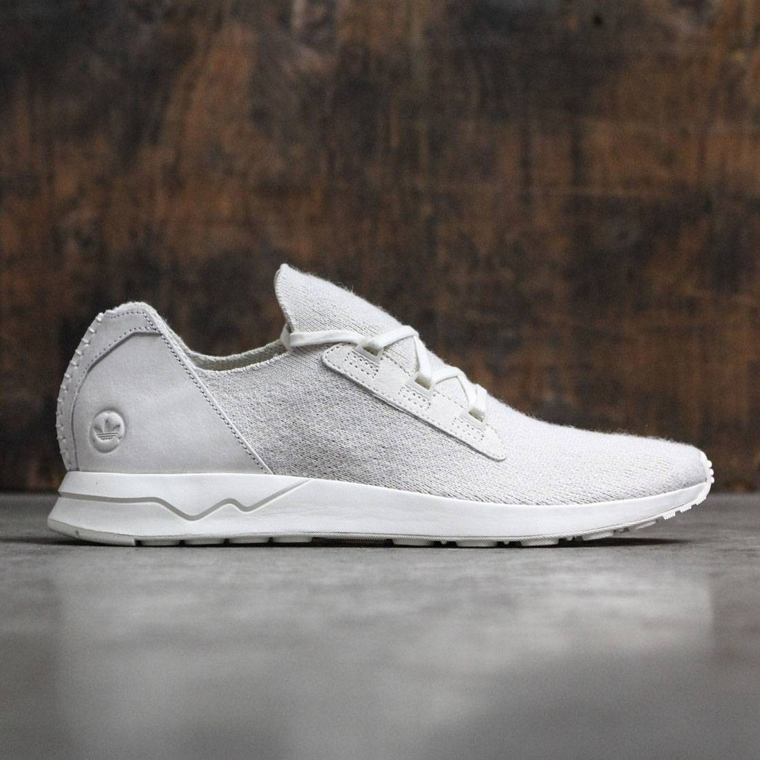 on sale 37960 84857 Adidas Consortium x Wings And Horns Men ZX Flux Primeknit (white / off  white)