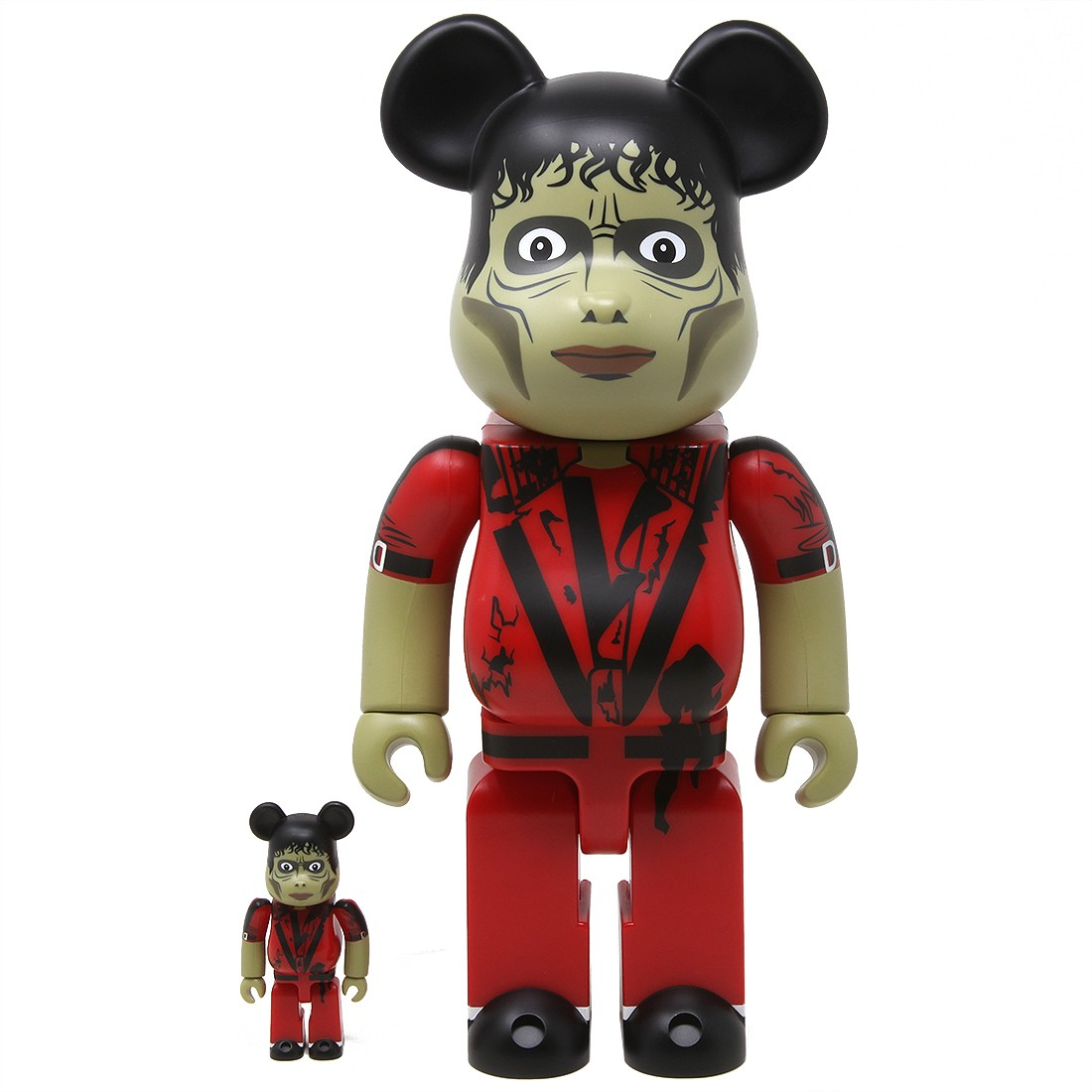 Medicom Michael Jackson Thriller Zombie 100% 400% Figure Set (red)