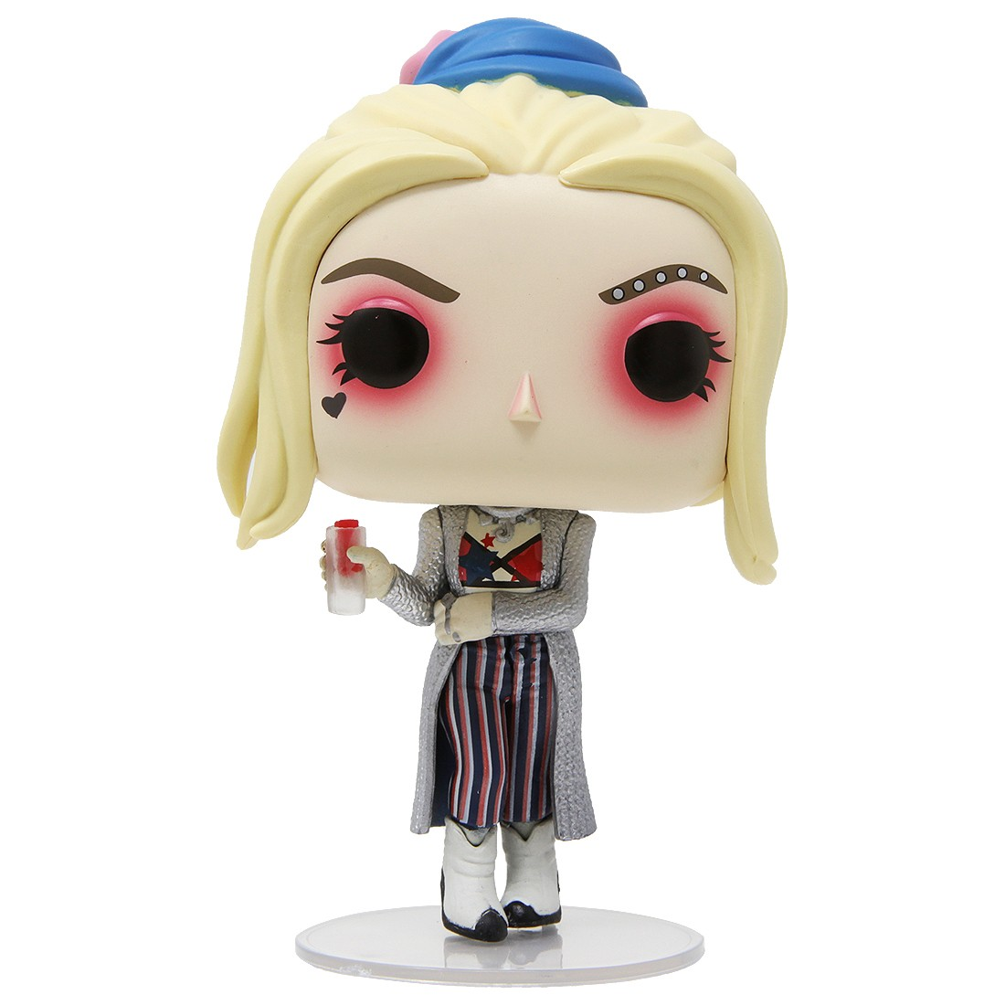 Funko Pop Heroes Birds Of Prey Harley Quinn Black Mask Club With Collectible Card Entertainment Earth Exclusive Silver